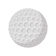 Golf ball cartoon icon