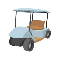 Golf car cartoon icon