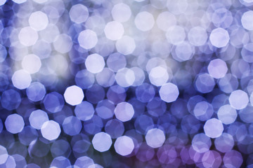 Blurring lights bokeh background of circles
