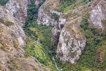 Горный пейзаж. Пейзаж в Армении (Татев). Каньон рядом с канатной дорогой «Крылья Татева».