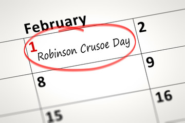 Robinson Crusoe Day first of February