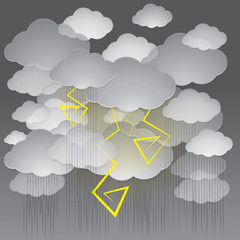 Vector illustration of a stormy sky.