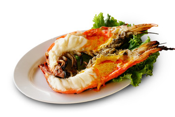 grilled prawn river
