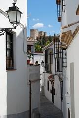 Spanish street in the Albaicin District, Granada.