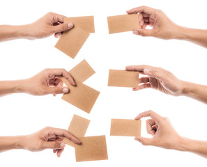 Collection of Credit card female hand holding