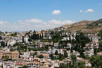View of the Albaicin Distrist, Granada.