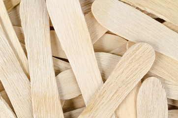 Wooden ice cream stick for background