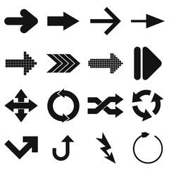 Arrow sign black simple icons