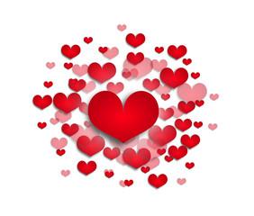 Hearts explode illustration