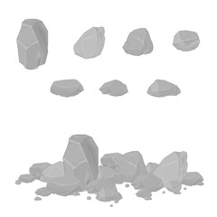 Illustration vector of Rocks stones.
