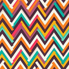 Chevron paper cut out seamless pattern