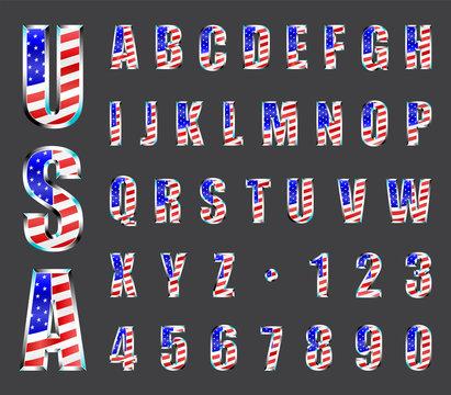 USA Chrome Font
