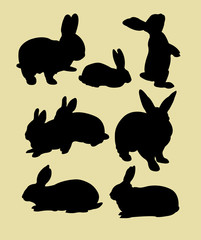 rabbit animal silhouette