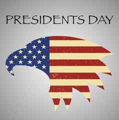 Presidents Day embleme with American eagle