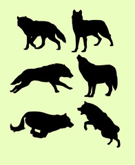 wolves wild animal silhouette