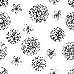 Flowers, vector illustration