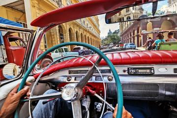 Cuba, La Habana. Vintage Car Tourist Tour