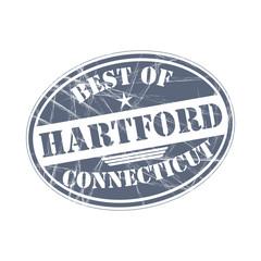 Best of Hartford vector rubber stamp