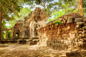 Wall Mural - Side view of Ta Kou in Angkor Wat complex . Siem Reap, Cambodia