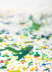 Abstract watercolor painting - shallow depth of field