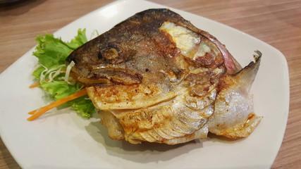 japanese cuisine, Salmon head grill