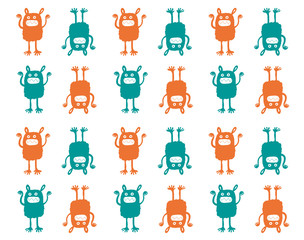Monster pattern vector