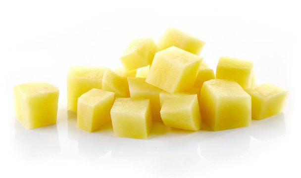 chopped raw potatoes