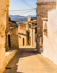 Wall Mural - View of a old rustic village