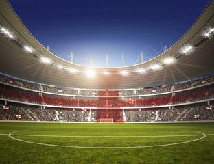 Wall Mural - Stadion England Mittellinie farbiges Licht