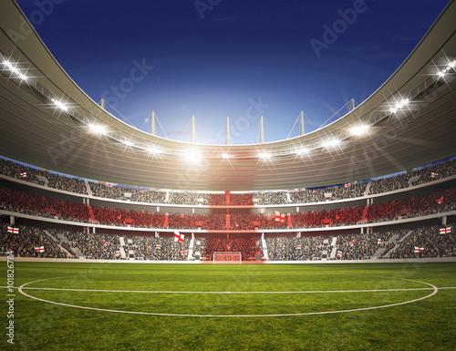 Wall mural Stadion England Mittellinie farbiges Licht
