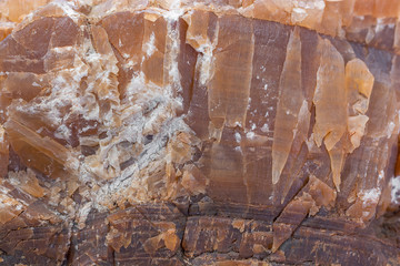 Closeup of Stone Marble Rock, Horizontal Shot with Shallow Focus