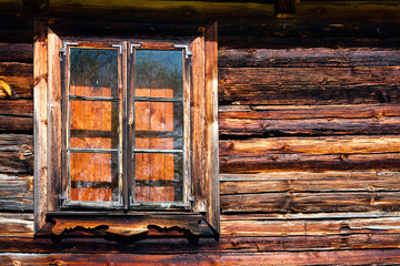 Weathered country house window