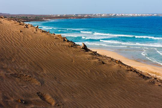 Sand dunes, Cape Verde beach
