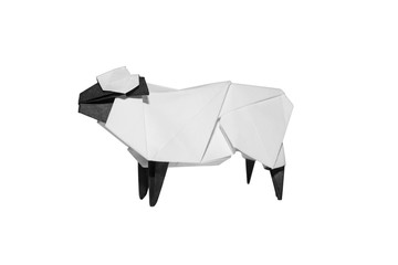 Origami Sheep isolated on white