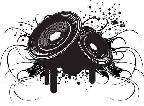 Abstract illustration modern club music and sound.