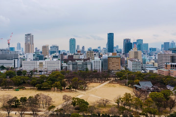 view from the top of Himeji castle