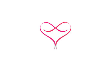 abstract love logo vector