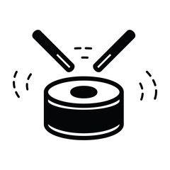 Drum Icon Isolated  black color