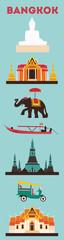 Symbols of Bangkok city