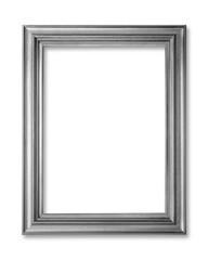 silver  frame on white