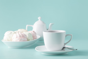 pastel colors pink and white marshmallows