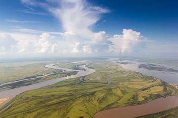 Foto op Aluminium Rivier Amur river near Khabarovsk