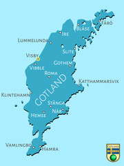 Map of Swedish isle of Gotland