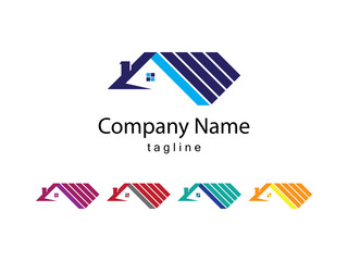 Roof Logo Vector Design