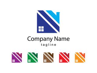 Unique Roof Logo Design