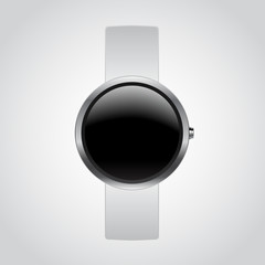 Smart Watch Mockup with white strap