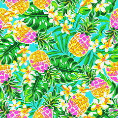 cute pineapples ~ seamless fashion print