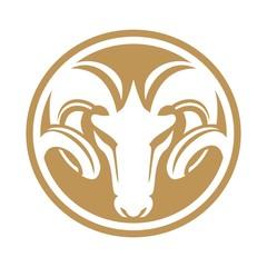 Fototapete - rams circle emblem