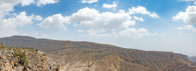 Jabal Akhdar in Al Hajar Mountains, Oman. This place is 2,000 meters above sea level.