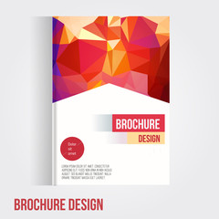 Set of Vector brochure cover design template with abstract geometric shape, triangle background for your business. EPS10